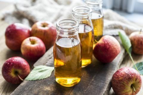 فوائد خل التفاح للشعر -زجاجتين لخل التفاح
