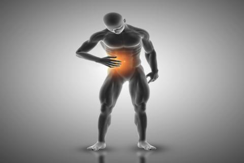 اعراض القولون العصبي -موضع ألم القولون العصبي